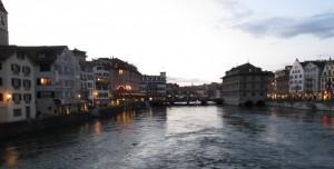 День 10. Река в Цюрихе.
